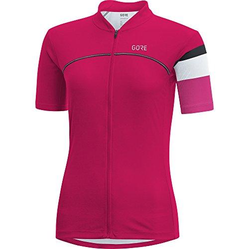 GORE Wear Women's Breathable Road Bike Short Sleeve Jersey, GORE Wear C5 Women Jersey, Size: M, Color: Jazzy Pink/Raspberry Rose, 100205