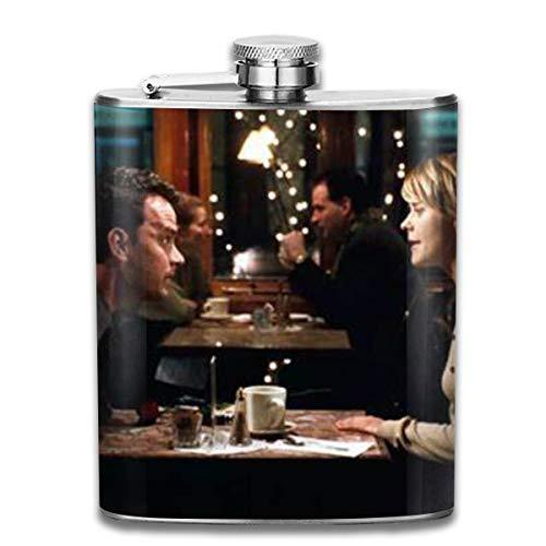 HMHMUND You've Got Mail 7 Oz Stainless Steel Hip Flask Leakproof Flask, Wearproof Wine Pot Flasks For Liquor For Men Women Groommans Wedding Gift