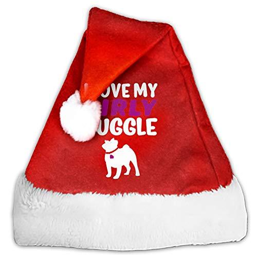 I Love My Girly Funny Party Hats Santa Hats - Christmas Novelty Hats]()