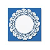 10'' Round Cambridge Lace Doilies in White
