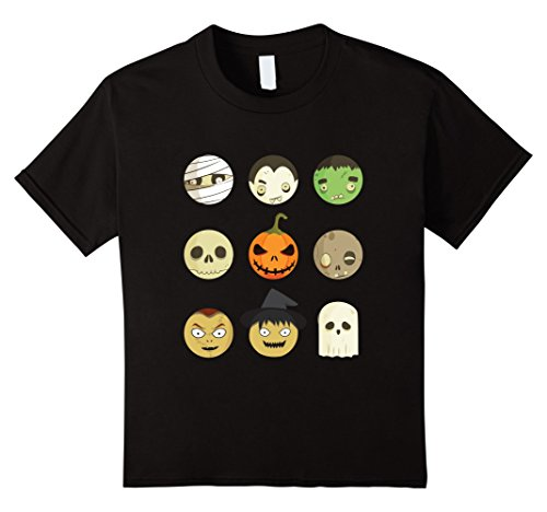 Homemade No Face Costume (Kids Halloween Emoji Faces Funny T Shirt 12)