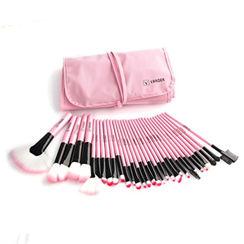 Cheap 32Pcs Set Makeup Brush Lipsticks Powder Make Up Brushes Tools W/ Bag Pincel Maquiagem Pink for sale