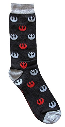 Hyp Star Wars Rebel Logos Pattern Men's Crew Socks Shoe Size 6-12 ()