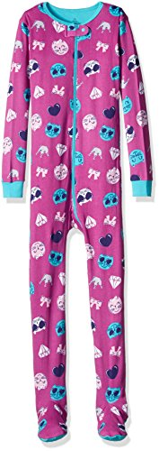 Petit Lem Little Girls' Print Onsie, Emoji Cat, 2]()