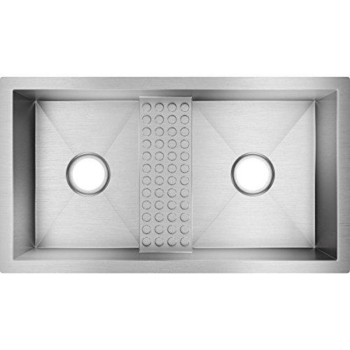 Elkay Avado Double Bowl (Elkay Crosstown EFULB331810CDB 40/60 Double Bowl Undermount Stainless Steel Kitchen Sink)