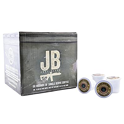 """Black Rifle Coffee Company JB """"Just Black"""" Coffee Rounds for Single Serve Brewing Machines (50 Ct)"""
