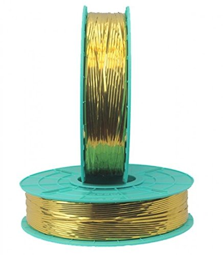 4,000 ft. Decorative Gold Twist Tie Ribbons (10 Spools) - 20-4000-Gold by Miller Supply Inc