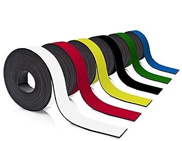 Farbe:Schwarz Farbiges Magnetband 50mm breit zum Beschriften und Zuschneiden