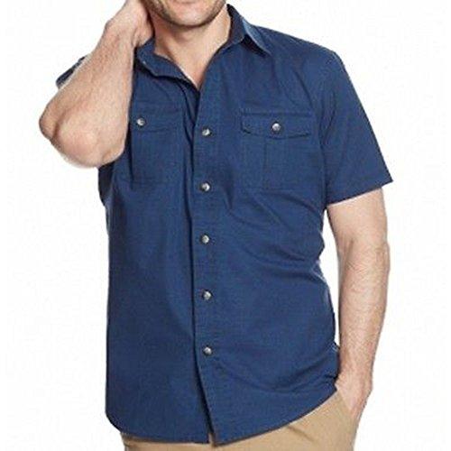 G.H. BASS & CO. Mens Medium Double Pocket Button Down Shirt Blue M
