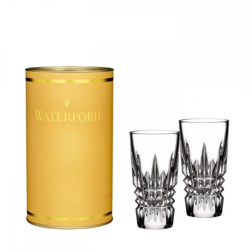 Waterford Crystal Giftology Lismore Diamond Shot Glass, Pair