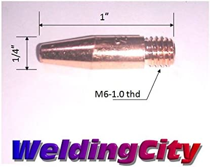 10 pk Tweco style 14H-35 10 Heavy duty MIG contact tips 0.035 wire diameter
