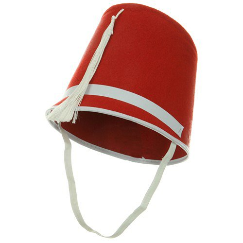 Felt Drum Major Hat - Red