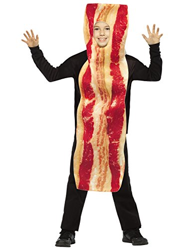 Seasons Inc Costume (Rasta Imposta Bacon Strip Costume, Brown, One Size)