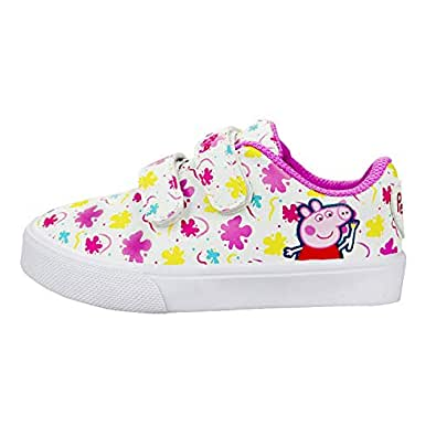 Peppa Pig Girls Low Top Double Strap Casual Sneakers Pink Size: 9 M US Toddler