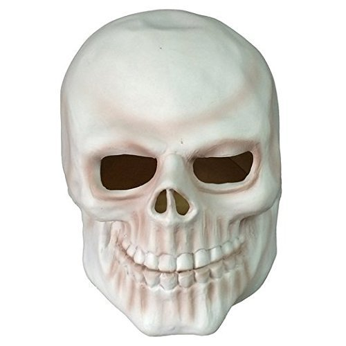 MostaShow Human Skull Full Head Latex Mask Halloween Party Cosplay Costume Masquerade (Michael Myers With No Mask)