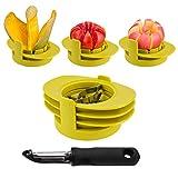 Apple Corers Slicer Mango Tomato Slicer Fruit Slicer 3 in 1 Stainless Steel