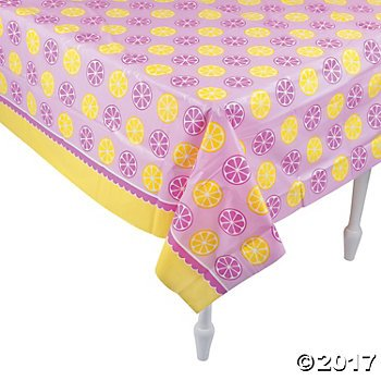 Lemonade Party Plastic Tablecloth - 54