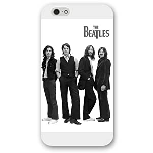 UniqueBox - Customized White Frosted iPhone 6+ Plus 5.5 Case, Popular Band The Beatles iPhone 6 Plus case, Only fit iPhone 6+ (5.5 Inch)