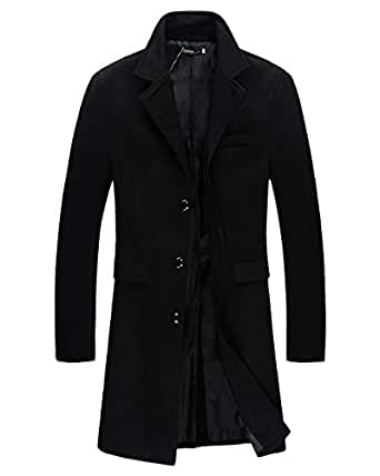 Beninos Mens Trench Coat Autumn Winter Long Jacket