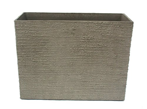 Fiberglass Garden Planter (Stone Light DT Series Cast Stone Planter, Size - 24  x 10 x 20 inches, Color - Sand Stone)