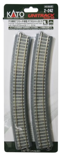 (On each two LR) R730-22.5 HO gauge 2-242 HO unitrack PC curve approach line (japan import)