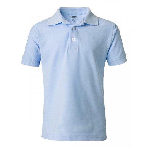 School Uniform Unisex Short Sleeve Pique Knit Shirt By French Toast (10, Ligh...