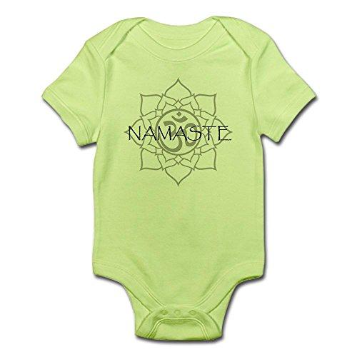 CafePress - Namaste Om - Clever Infant Bodysuit Baby Romper