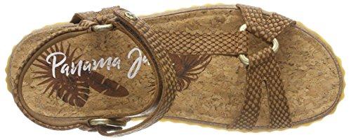 Panama Jack Women's Caribeña Snake Open Toe Sandals Brown (Cuero) ZTvcCAW8v4