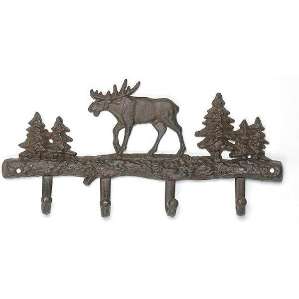 Amazon.com: Cast Iron Bear Wall Key Rack Holder 4 Hooks Coat ...