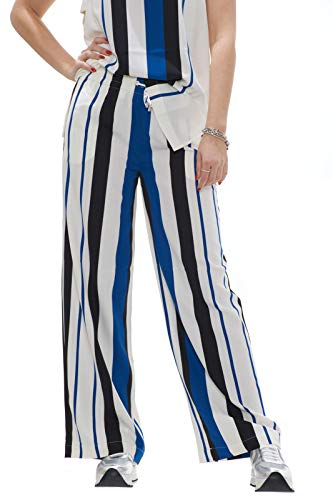 Pantaloni Navetta Donna Fantasia Jo Sport Bianco Rigata In Liu vqUAP7