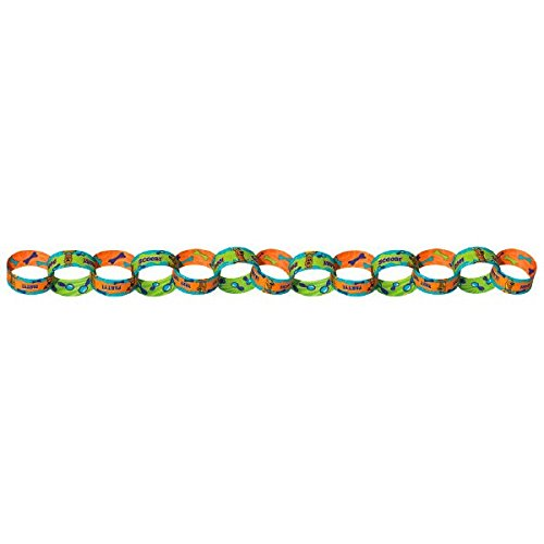Amscan Awesome Scooby-Doo 50 Links Paper Chain Garland Birthday Party Decoration, 11.4 x 3.5, Teal/Purple/Green ()