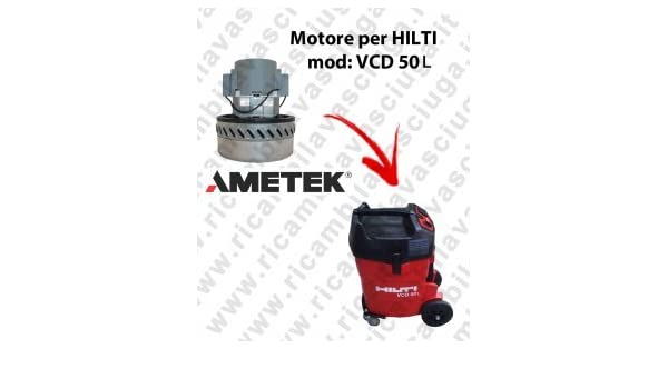 VCD 50L Motor de aspiración ametek para aspiradora y te Hilti ...