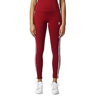 adidas Originals Women's 3-Stripes Leggings, Collegiate Burgundy, Medium