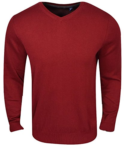 IZOD Mens Premium Essentials Fine Gauge Solid V-Neck Sweater
