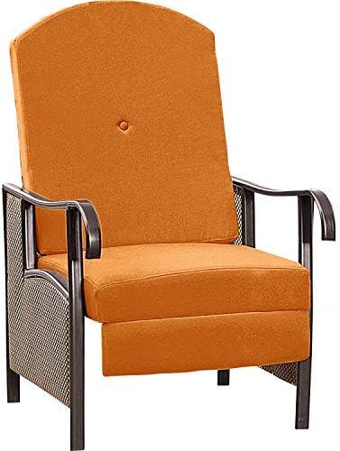 Outdoor Deluxe Oversized Padded Adjustable Zero Gravity Lounge Patio Deck Chair Multi-Positional, Rust-Resistant Steel, Weather Fade Resistant Premium Fabric, TERRA COTTA RED