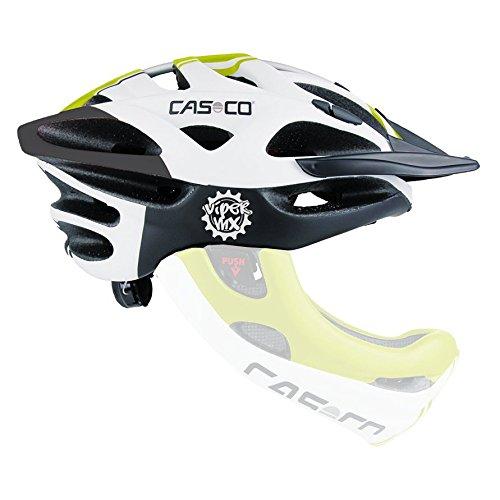 Casco Viper MX Freeride Helm,Downhill Helm weiss-grün matt ohne Kinnbügel
