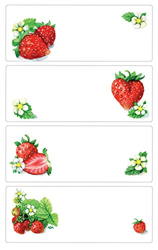 Avery Zweckform 59673Jam Labels Strawberry, Removable Wall Stickers-12Stickers