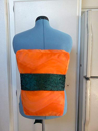 Sushi Costume Salmon Sake Large Sized Pillow and Nori belt 14 x 11 x 3 inches - Halloween]()