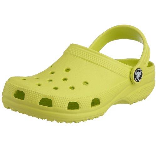 [crocs Kid's Classic Clog 10006,Citrus,M3W5 Little Kid] (Croc Yellow Leather)