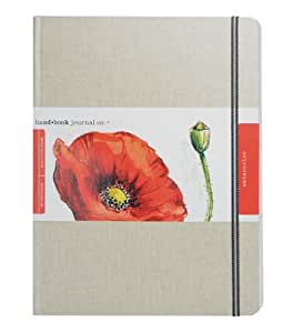 Global Art Materials 769105 10-1/2-Inch by 8-1/4-Inch Travelogue Watercolor Book, Grand Portrait