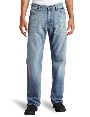 Nautica Jeans Men's Relaxed Light Hatch Jean, Hokline Blue, -