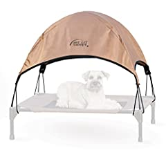 The K&H Pet Cot Canopy shades any pet from harsh summer sunlight. Designed to attach to any of our pet cots (cot sold separately), guaranteeing to help your dog have a cool summer! The simple design just plugs into the corners of the cot ...