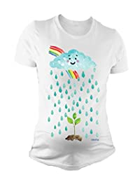 Ladies MATERNITY T-Shirt Baby Seed Rainbow Cute Pregnancy Gift By BritTot