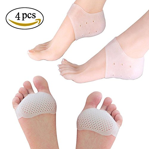 Gel Metatarsal Pads- Silicone Gel Heel Protector - Comfortable, Durable, Double Rapid Foot Pain Relief- Prevent Callus and Blisters For Men and Women (Comfortable Gel)