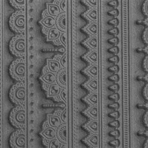 Cool Tools - Flexible Mega Tile - Mehndi Borders - 9.25'' X 6'' by Cool Tools