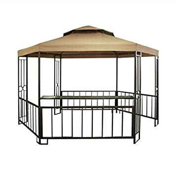 Garden Winds H&shire Hexagon Gazebo Replacement Canopy - Riplock 350 Performance Fabric  sc 1 st  Amazon.com & Amazon.com : Garden Winds Hampshire Hexagon Gazebo Replacement ...