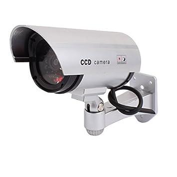 eDealMax Vigilancia Seguridad falso muñeco Cámara luz roja parpadeante Interior al aire Libre