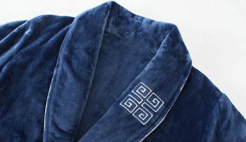 Suave Baño Cálido Albornoz Mujeres Larga Azul Robe Hombres Moda Manga Pijama Hotel Las Franela Ducha Cuello De Bufanda Cachemira qvAUgwrq