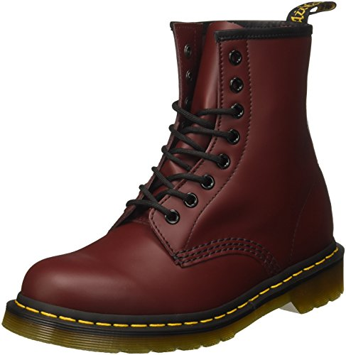 Dr. Martens 1460, Bottes & Bottines Rangers Mixte Adulte Rouge (cherry Red Smooth)