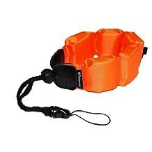 Polaroid Floating Flotation Wrist Strap (Orange) For Underwater / Waterproof Cameras, Camcorders And Housings
